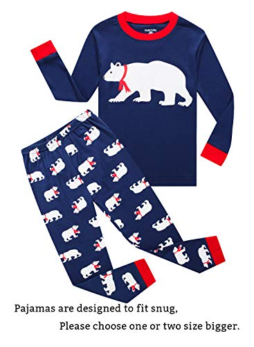 Family Feeling Baby Boys Girls' Santa Claus Christmas Cotton Long Sleeve Pajamas Sets Pjs 12-18 Months