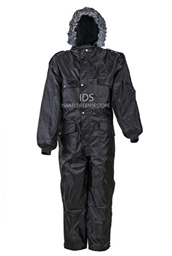 HAGOR Black IDF Snowsuit Winter Clothing Snow Ski Suit Coverall Insulated Suit (L) -