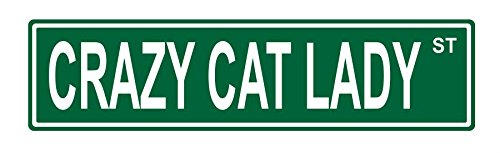 Crazy Cat Lady street sign - cat wall art decorations
