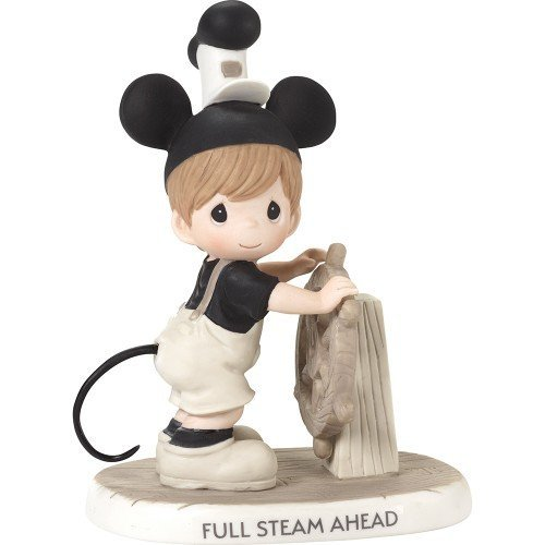 (Precious Moments Company Disney Showcase Steamboat Willie Full Steam Ahead Bisque Porcelain 181096 Figurine, One Size, Multi)