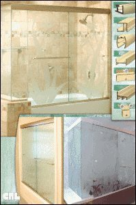 C.R. LAURENCE FP43 CRL Decorative Poster FP43 Frameless Shower Hardware