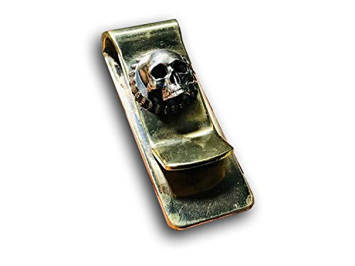 (Handmade Pure Copper Brass Skull Money Clip for Men (A))