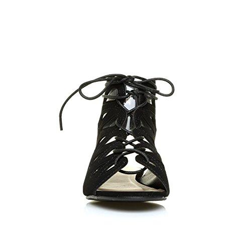 Daim noir UK noir pour femme ShuWish Sandales I0qXO6