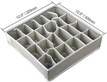 AUNMAS 3Pcs Sujetador Ropa Interior Caj/ón Organizador Divisor Plegable Caja de Almacenamiento Calcetines Armario Contenedor 2#
