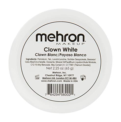 Mehron Makeup Clown White Professional Makeup (2.25 oz) -