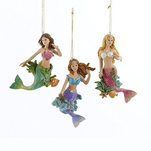 41j9PwbbdGL Amazing Mermaid Christmas Ornaments