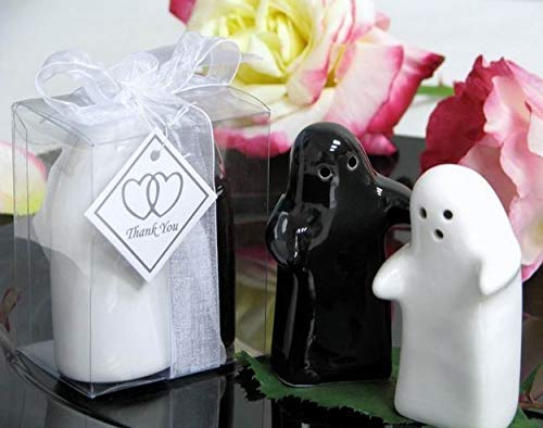 (CTC Authentic Ceramic Hugs and Kisses Salt & Pepper Shakers Wedding Gift, House Warming)