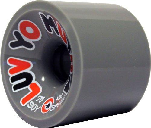 Luv Yo Mutha Longboard Wheels 70MM 84A Gray Dregs Soy Compound Formula