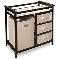 Badger Basket Modern Changing Table With Hamper/3 Baskets.