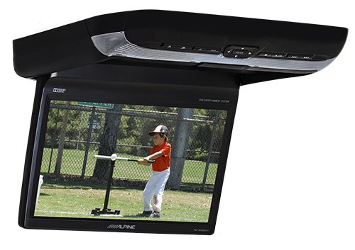 "Alpine PKG-RSE3HDMI 10.1"" Overhead Flip Down WSVGA Monitor with Built-in DVD Player, USB and HDMI Inputs"