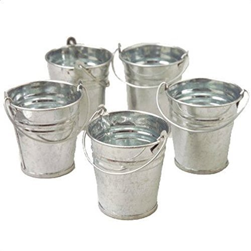 Mini Metal Buckets, 24 Count, 2 Packs of (Flower Pail)