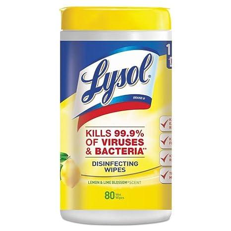 Reckitt Benckiser toallitas desinfectantes, bañera/80 toallitas, 6 semanas/CT, limón/Lime Blossom: Amazon.es: Hogar