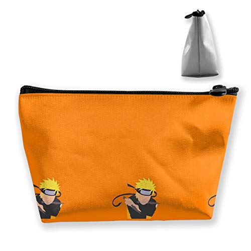 JINUNNU Makeup Bag Cosmetic Pouch Naruto Wallpaper Multi-Functional Trapezoidal Storage Bag Travel Kit Organizer (Best Naruto Wallpapers For Mobile)