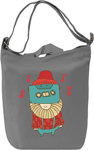 Hipster Borsa Giornaliera Canvas Canvas Day Bag| 100% Premium Cotton Canvas| DTG Printing|