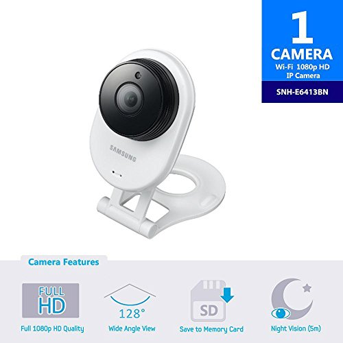 SNH-E6413BN – Samsung Wisenet SmartCam HD WiFi IP Camera With 16GB Micro SD Card
