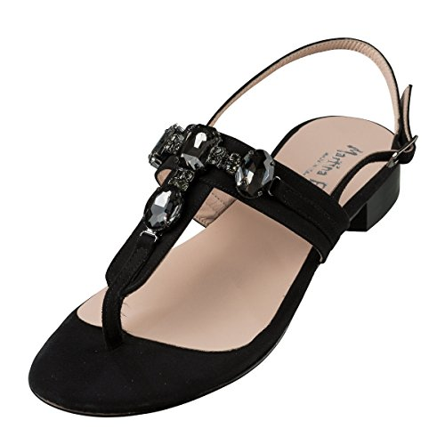 black 6 black Women's Fashion Black Sandals Due Termoda 5 XfSRR