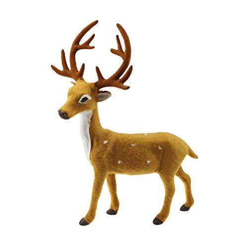 Ktyssp Creative Christmas Deer Scene Arrangement Props Christmas Elk Plush (D) ()