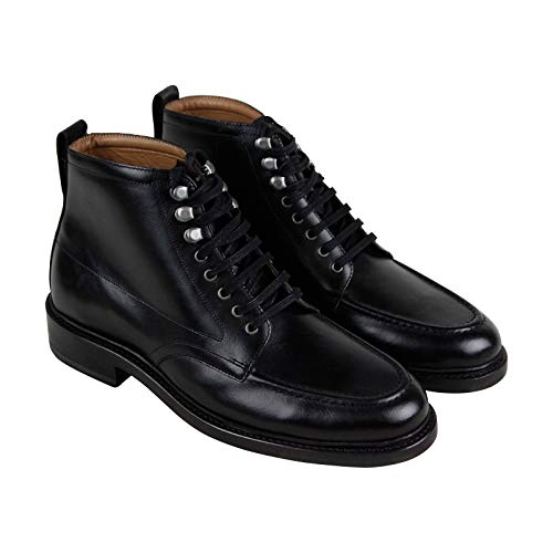 Bostonian Berkshire Moc Mens Black Leather Casual Dress Lace Up Boots Shoes 7