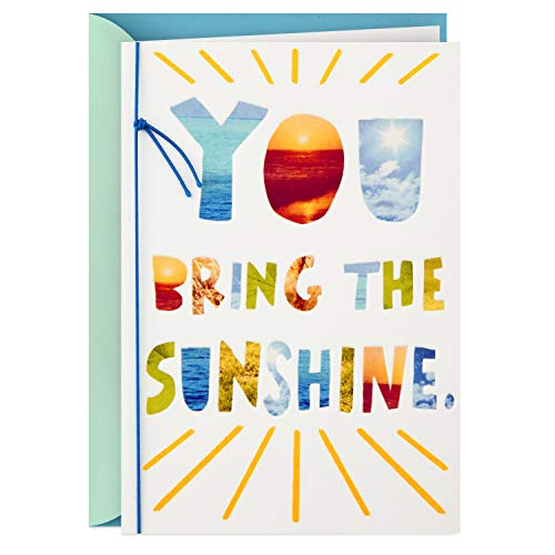 Hallmark Thank You Card, Just Because Card, Friendship Card (You Bring The Sunshine) (Birthday Greetings To My Best Friend)