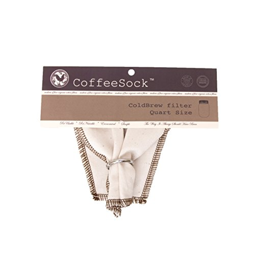 CoffeeSock ColdBrew Filter - GOTS Certified Organic Cotton R