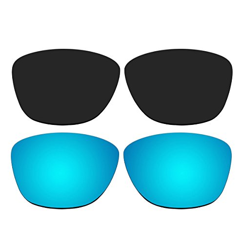 Replacement Polarized Black and Ice Blue Lenses for Oakley Jupiter Sunglasses (Not Fit Jupiter Carbon, Jupiter Squared, Jupiter Factory - Squared Jupiter Carbon