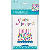 Confetti Cake Birthday Invitations, 8ct