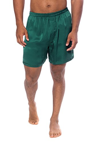 Boxers for Men in Silk Great Perfect Good Gift Ideas for Him - Men's 0120-GN-M