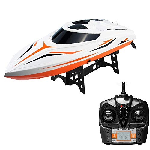 Rabing RC Boats for Pools and Lakes - H105 25 MPH+ Remote Control Boats for Kids or Adults, Self Righting High Speed Boat Toys for Boys or Girls