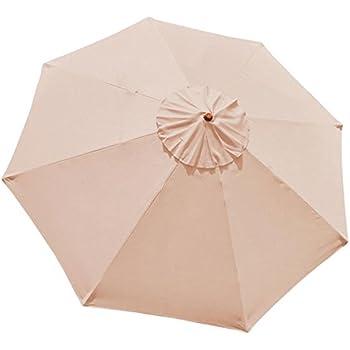Amazon Com 9 Foot 9 Ft Polyester 8 Rib Umbrella