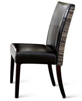 Sam Esszimmerstuhl Cabana Loom Schwarz Kolonial Stuhl Sitzfläche