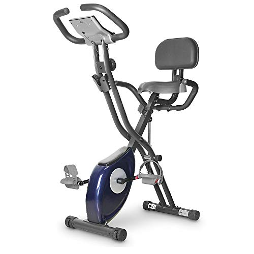 leikefitness LEIKE X Bike Ultra-Quiet Folding Exercise Bike, Magnetic Upright Bicycle with Heart Rate,LCD Monitor and easy to assemble 2200 (BLUE)