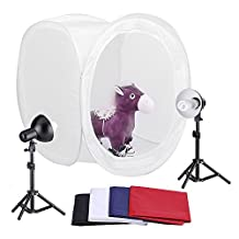 Neewer® Photography Shooting Tent Kit, Including (2) Studio Lights and (1) 30 inch Studio Light Tent with (4) Backgrounds - Black/White/Dark Blue/Red Background