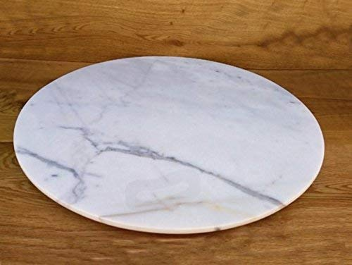 Marble Lazy Susan Turntable Rotating Tray Dining Table Centerpiece Serving Plate Large - 22 Inch ()