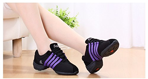 Women Purple Dance Shoes Professional Jazz Lightweight Shoes Yao Dance Ballroom for Shoes Pvx6nSU