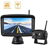 Digital Wireless Backup Camera and Monitor System, Stable Signal Reversing Camera with 5 Inch LCD Monitor, Night Vision IP69K Waterproof Rearview IR Camera and Monitor Kit be Used for Safety Driving ...