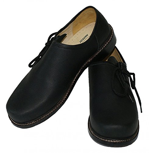 schwarz Schuhe Sohle MADDOX Glattleder Trachtenschuhe Trachten Haferlschuhe für glatte zum Tänzer Leder Lederschuhe zur Lederhose Tanzen und Schnürschuhe Plattler Tanzschuhe Ledersohle tqgXW