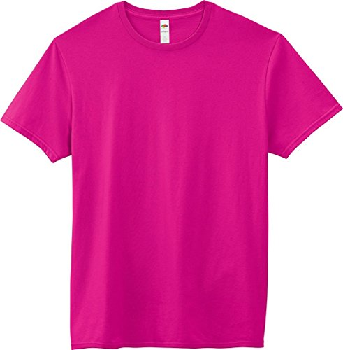 Fruit of the Loom Adult 4.7 oz. Sofspun« Jersey Crew T-Shirt-Cyber Pink-M ()