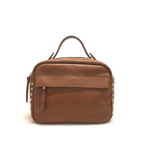 Gar Chaussures en cuir Mini sac avec des clous en cuir véritable Made in Italy