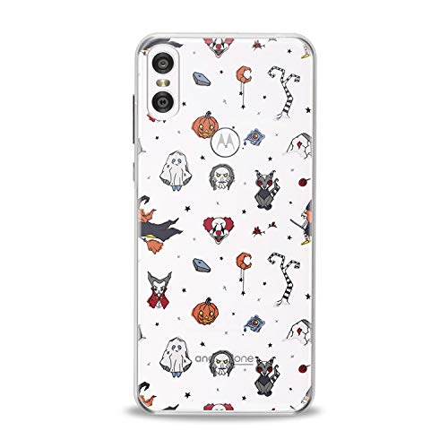Lex Altern TPU Case for Motorola Moto G7 Power One P30 P40 Note G6 Z4 Halloween Theme Flexible Orange Pumpkins Smooth Scary Clear Clown Design Soft Ghost Slim fit Cover Print Gift Tree Lightweight]()