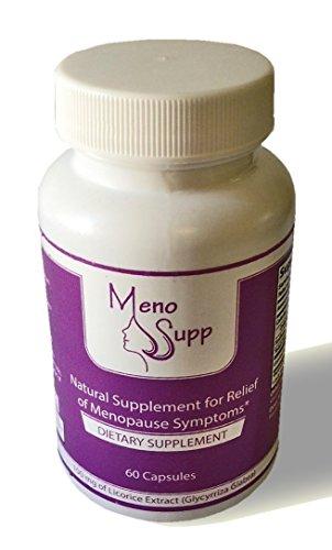 Menosupp- Ménopause suppléments pour 100% naturel ménopause soulagement des symptômes - Bouffées de chaleur, sueurs nocturnes, Mood Swings, la sécheresse vaginale - Extrait de racine de réglisse en capsule végétale pour le soutien ménopause