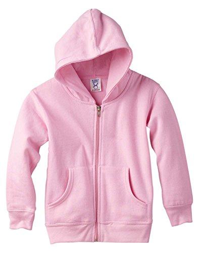 Rabbit Skins Toddlers 7.5 Oz. Full-Zip Fleece Hood (3346)- PINK, 5/6