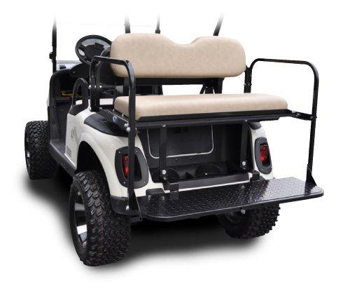 Madjax 01-010 Genesis 150 Rear Flip Seat Kit for 2008-Up EZGO RXV Golf Carts Sandstone Cushions
