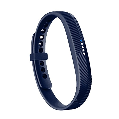 ith Fitbit Flex 2 Band, Replacement for Fitbit Flex 2 Accessories Silicon Wristbands w/Fastener Clasp Fitness Strap for Original Fitbit Flex 2, No Tracker (Navy Blue, L) ()