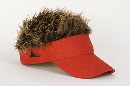 - Flairhair Flair Hair Red Visor W/Brown Hair Hilarious Pkg/1