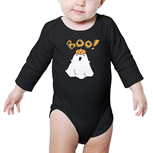 SHUOCDAH Halloween with Boo Ghost Baby Boys Fashion Baby Long Sleeve Onesie -