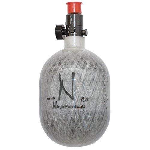 Ninja Carbon Fiber HPA Tank - 50/4500 - - Compressed 3000 Hpa Psi