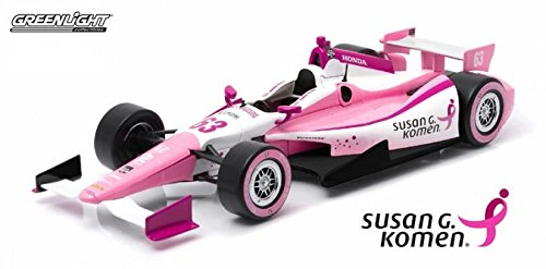 - Greenlight 1/18 Limited Edition #63 Pippa Mann - Susan G. Komen Foundation - Dale Coyne Racing Pink
