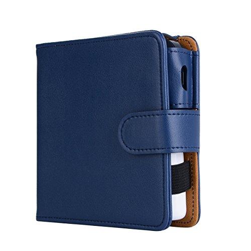 over Wallet Case, E-Cigarette Cover Case, Premium Leather Zipper Wallet Multifunctional Backcase Removable Card Slot Pocket Pouch Flip Protective Case Compatible with E-Cigarette ()