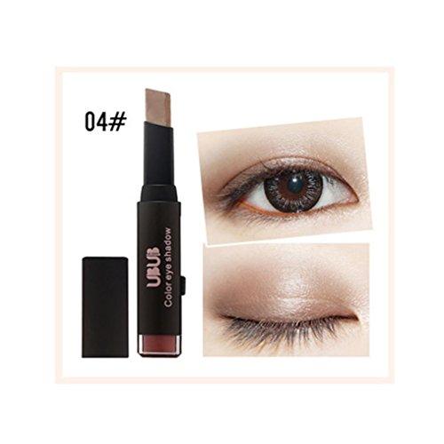 Liquid Eyeliner Pen KingWo New Gradient Two-Color Eye Shadow Stick Shimmer Palette Eye Cream Pen Beauty ()