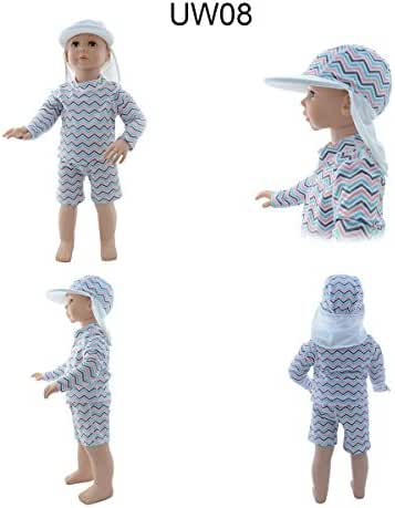 Alva Baby Rash Guard Set Sun Protection & Swim Suits + one Sun Hat 50+ UPF UW08-H